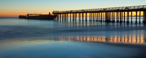 Twilight, Seacliff State Beach, Aptos CA